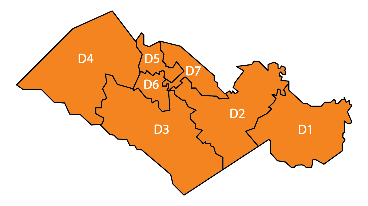 County Districts Map